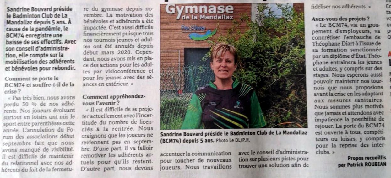 Article dans le Dauphiné